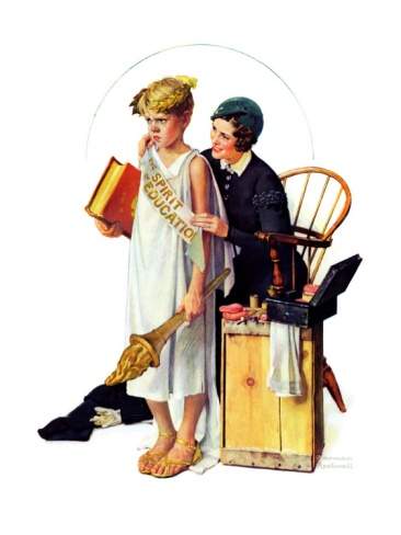 """""""Spirit of Education"""", April 21,1934 Giclee Print by Norman Rockwell at Art.com"""