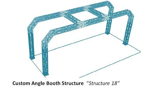 Custom Angle Truss Trade Sho0w Booth. #tradeshowbooth