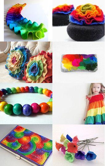 Rainbow  by Cristina on Etsy--Pinned with TreasuryPin.com