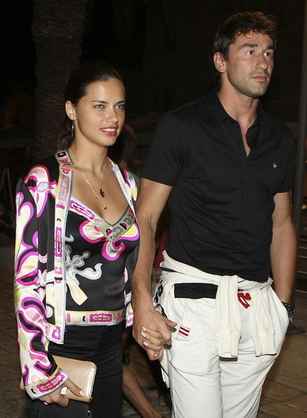 Adriana Lima and Serbian basketball player Marko Jaric..