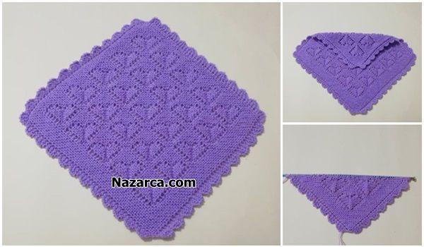 Kare Koseden Baslamali Sis Orgusu Lif Yapimi Nazarca Com 2021 Baby Knitting Patterns Tig Motifleri Orgu