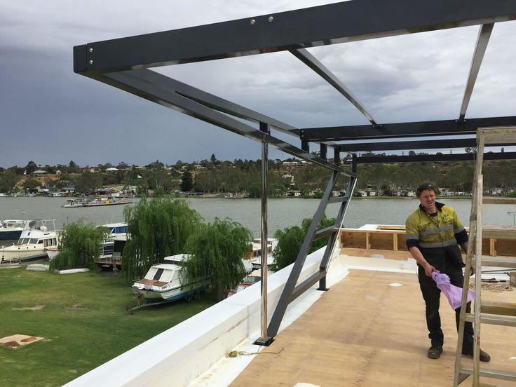 House boat roof frames all Aluminium 100 x 100 x 6.0 SHS.