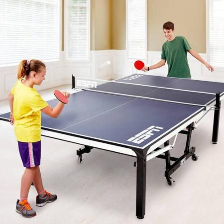 ESPN 2 Piece Table Tennis Table With Table Cover   Walmart.com   Great