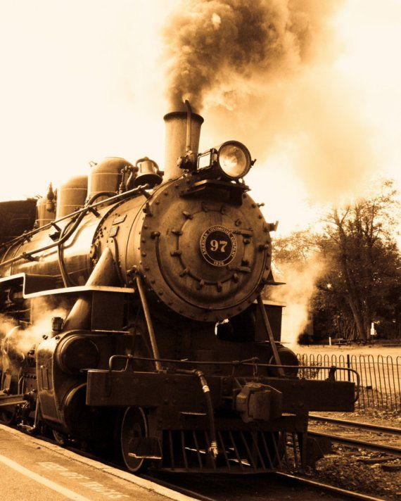 Nostalgic Travel By Train. Hena Tayeb Sepia Photograph