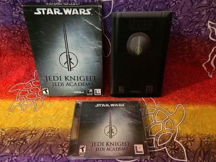 Star Wars: Jedi Knight -Jedi Academy (PC, 2003) 2 discs box manual jewel case