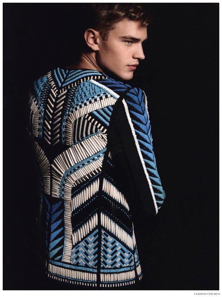Fashion For Men: Bo Develius in Balmain Spring/Summer 2015