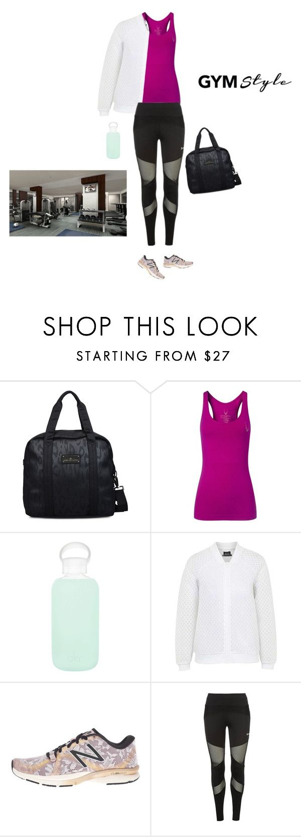 """""""Evening Workout"""" by marinavl ❤ liked on Polyvore featuring adidas, Lucas Hugh, bkr, Topshop, New Balance and USA Pro"""