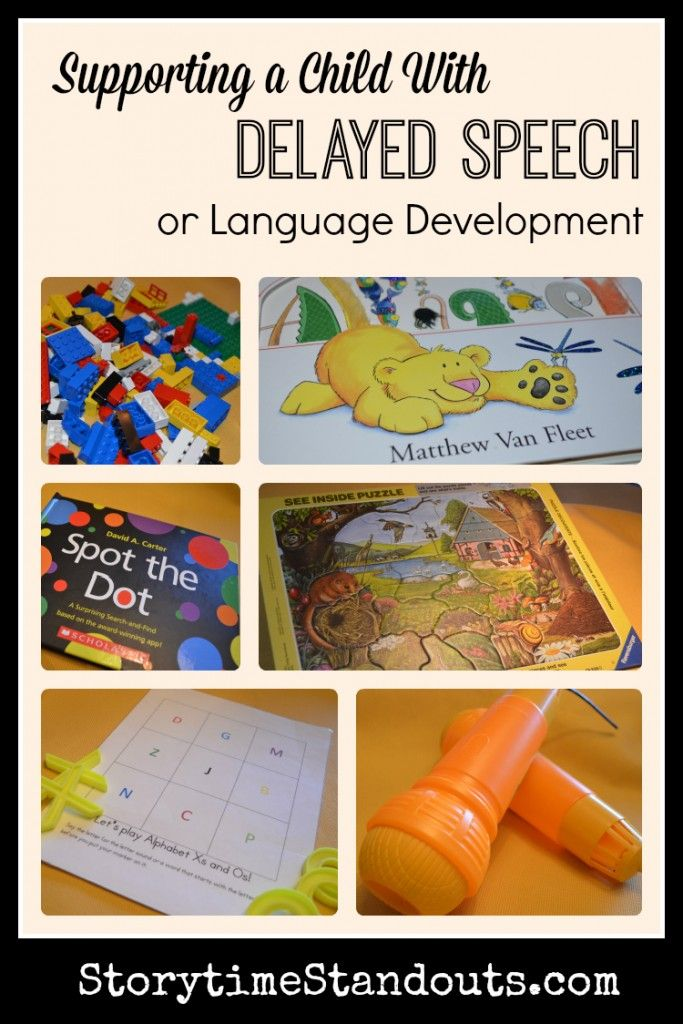 Storytime Standouts looks at ways to support a child with #delayedspeech or #delayedlanguagedevelopment #sped