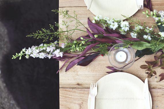 Vintage botanical dinner party idea | photo by Meghan Sadler | 100 Layer Cake Honeysuckle vine