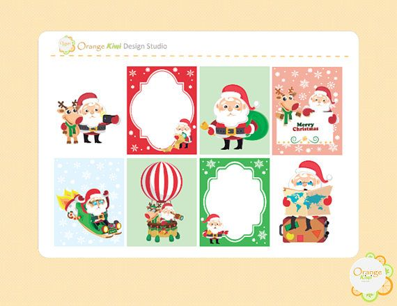 Christmas Full Box Stickers Christmas Planner Stickers Erin