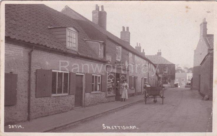 RP SNETTISHAM VILLAGE STREET SCENE SHOPFRONT REAL PHOTO HEACHAM NORFOLK 1912 | eBay