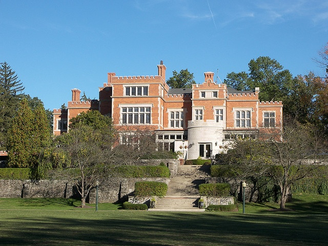 Jeffrey Mansion- the best part of this park was always running down the curved stairwells in the walls of the garden