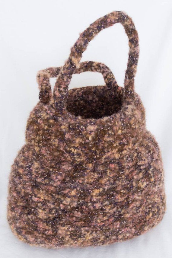a5558b93b2 Felted tweed bag