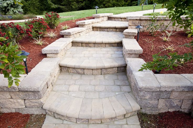 EP Henry Steps and Walkway available at BF Landscape www.bflandscape.com 856-740-1445
