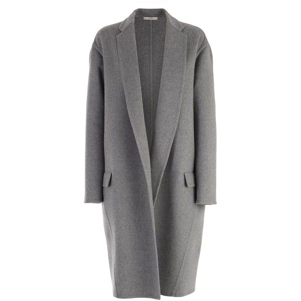 Celine Coat found on Polyvore featuring outerwear, coats, jackets, celine coat, gray coat, cashmere coats, wool cashmere coat and grey coat