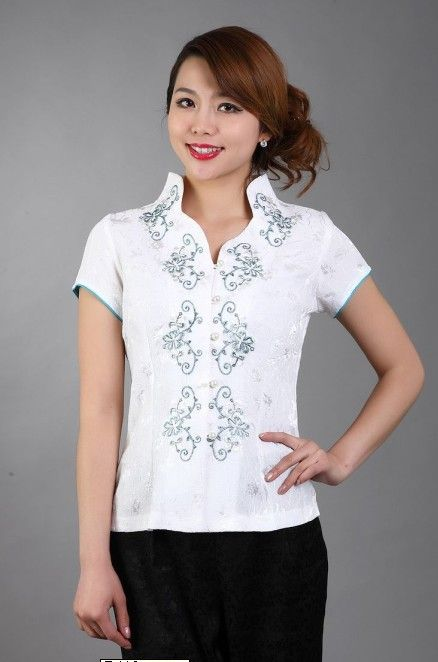 Free Shipping Fashion White Chinese Women's clothing Polyester Satin Blouses Shirt tops Flower Size M L XL XXL XXXL TD11-C #Satin blouses http://www.ku-ki-shop.com/shop/satin-blouses/free-shipping-fashion-white-chinese-women-s-clothing-polyester-satin-blouses-shirt-tops-flower-size-m-l-xl-xxl-xxxl-td11-c/