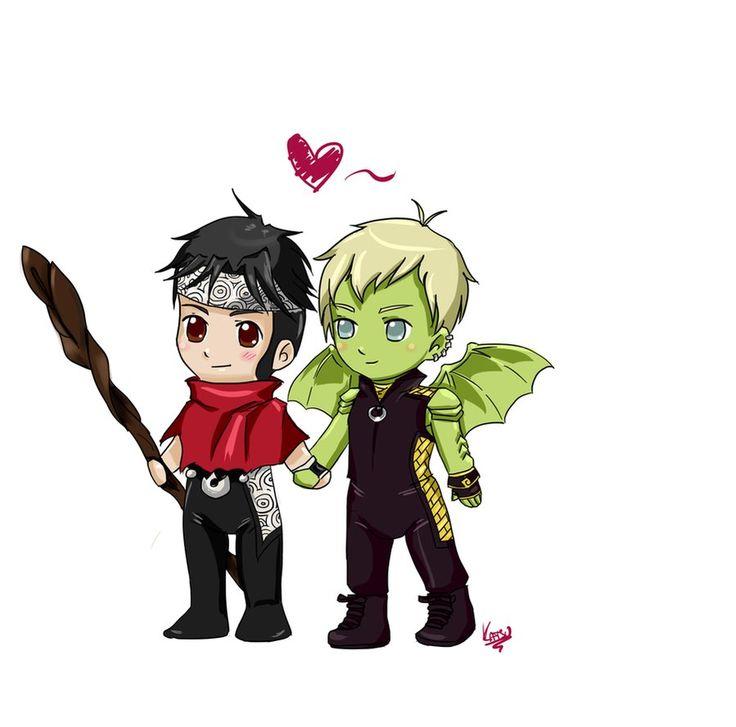 Wiccan and Hulkling by KatsurinaAether.deviantart.com on @DeviantArt