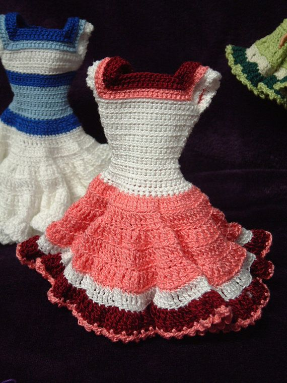Crocheted Dress for Barbie or 11.5 inch Fashion by Nanasbeehive