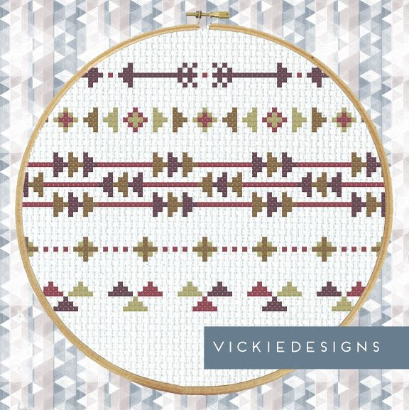 Arrows Borders Cross Stitch Pattern by VickieDesigns
