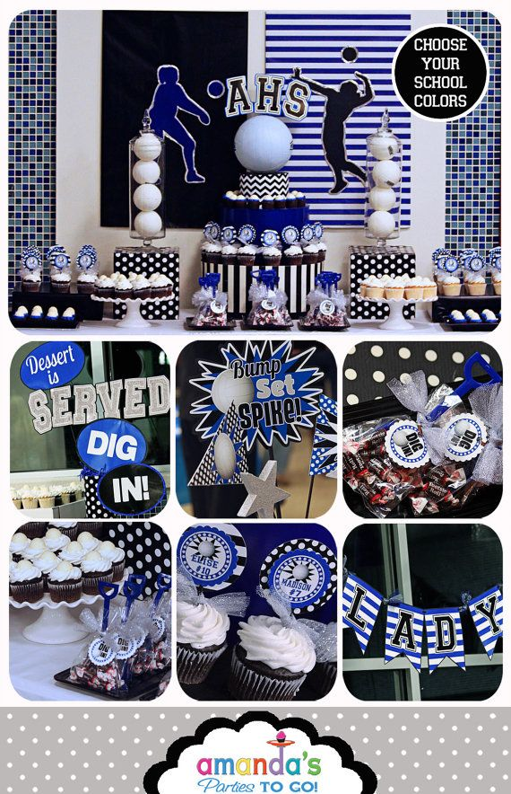 Volleyball Party - Volleyball Banquet - Volleyball Team Personalized Printable set by Amanda's Parties To Go