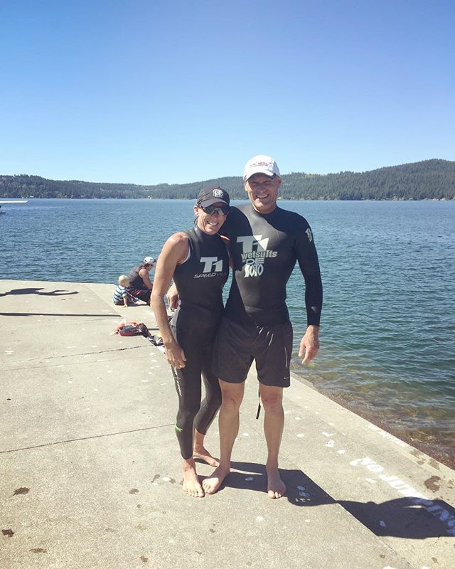 Michelle & Salvador getting ready for the Half Ironman this Sunday in Couer d'Alene, Idaho!!!! Good luck! 🙌🏼 #ironman #halfironman #workout #triatlon #fitness #lajolla #lajollalocals #sandiegoconnection #sdlocals - posted by La Jolla Fit  https://www.instagram.com/lajollafit. See more post on La Jolla at http://LaJollaLocals.com