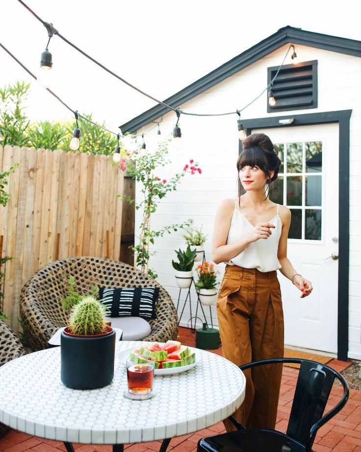 New Darlings - Our Backyard Bistro Area: The Reveal - Before and After Small Patio Space