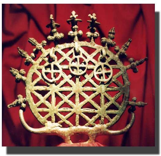Ancient Hittite Solar Disk, found in northern central Anatolia (Turkey), circa 2100 B.C. Now in the Museum of Anatolian Civilizations in Ankara, Turkey. ~Hasmonean