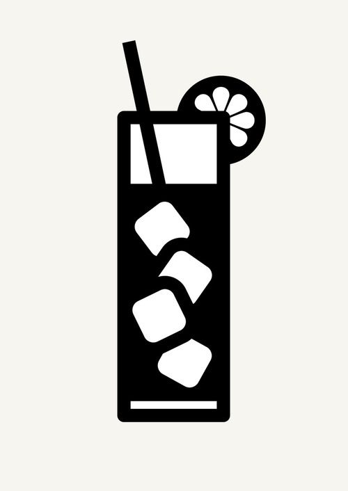 Icon Prints: Drinks Serie by Brigada Creativa, via Behance