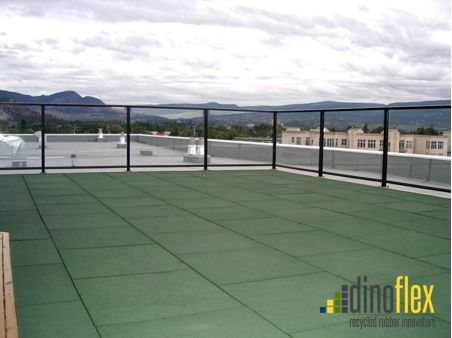 Rooftop Revitalization, this rooftop received a new look with Dinoflex NuVISTA tiles. NuVISTA tiles offers excellent slip resistant properties which can reduce the chance of slips and falls. #slipresistant #nuvista #dinoflex #uniquelydifferent