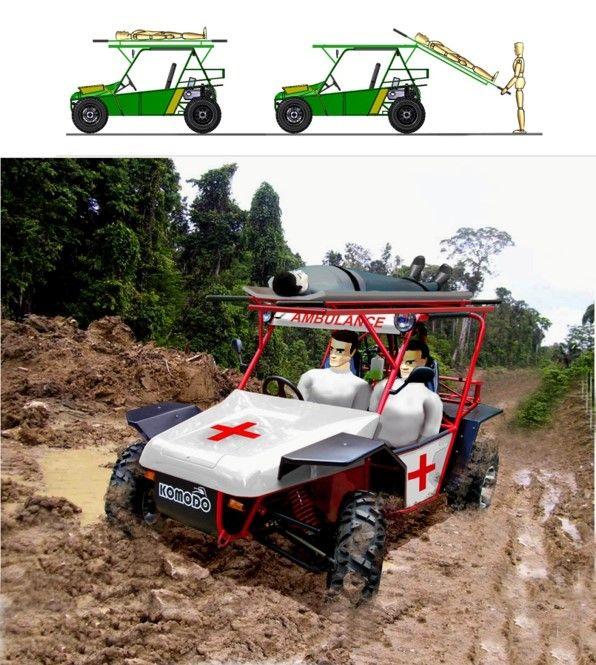 Fin Komodo - Medivac (Ambulans di daerah sulit terjangkau)   Fin Komodo Offroad