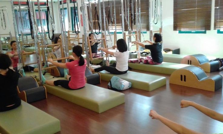 sit up straight, arms soften , and let's start ...  #pilatesJakarta