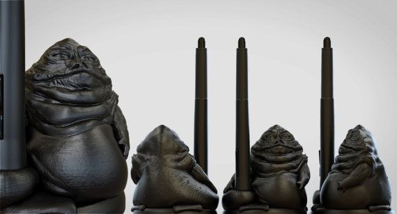 Wacom 3D Printed SlugMan Pen Holder by Geekblivion on Etsy