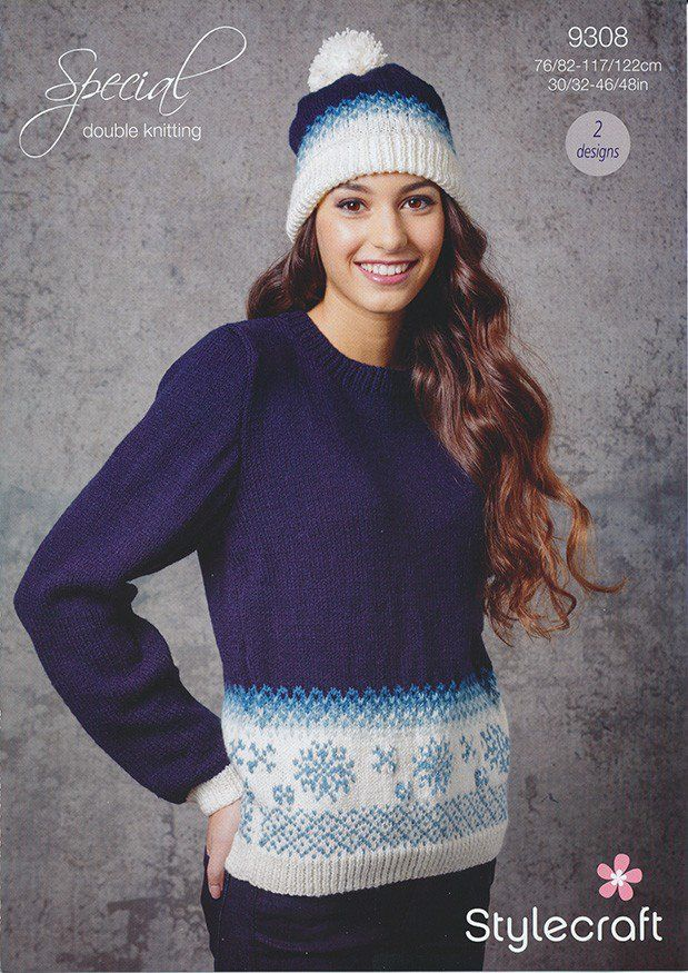 Ladies Christmas Jumper and Hat in Stylecraft Special DK (9308) | New Products | Deramores