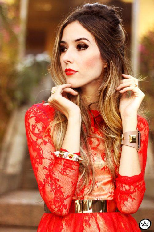 Look Du Jour: Total Red!  #Lace #Dresses