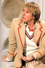 """Peter Davison as The Doctor, making a very Tristan-ish face.  I can just hear him saying """"But Seigfried!"""" after getting scolded :)"""