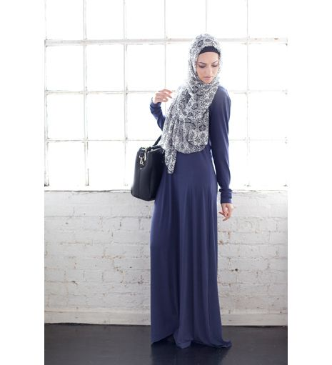 BASIC DENIM ABAYA