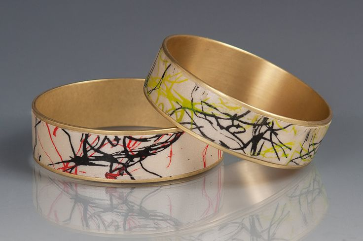 Graffiti Bracelet by Louise Fischer Cozzi (Polymer Clay Bracelet) | Artful Home