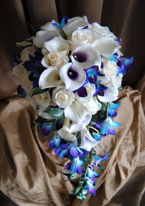 calla lily bouquet wedding cascade style - Google Search