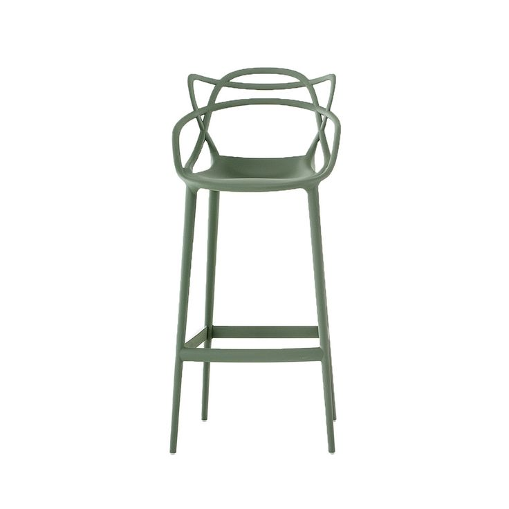 Discover the Kartell Masters Stool - Sage Green  at Amara
