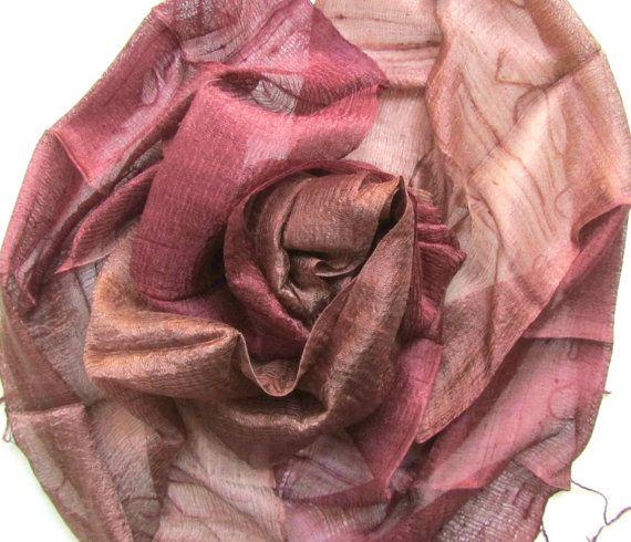 Silk Shawl Handwoven Pure Raw Silk Accessories Wedding Shawl