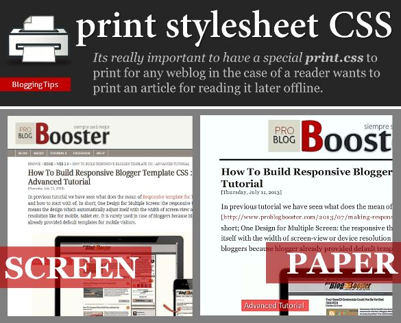 Make Your Website Printer-friendly with CSS - It's really important to have a special CSS to print for any site in the case of a reader wants to print an article for reading it later offline. By using this the reader can also save pages in pdf format too. Learn to make your website printable with CSS 2016.