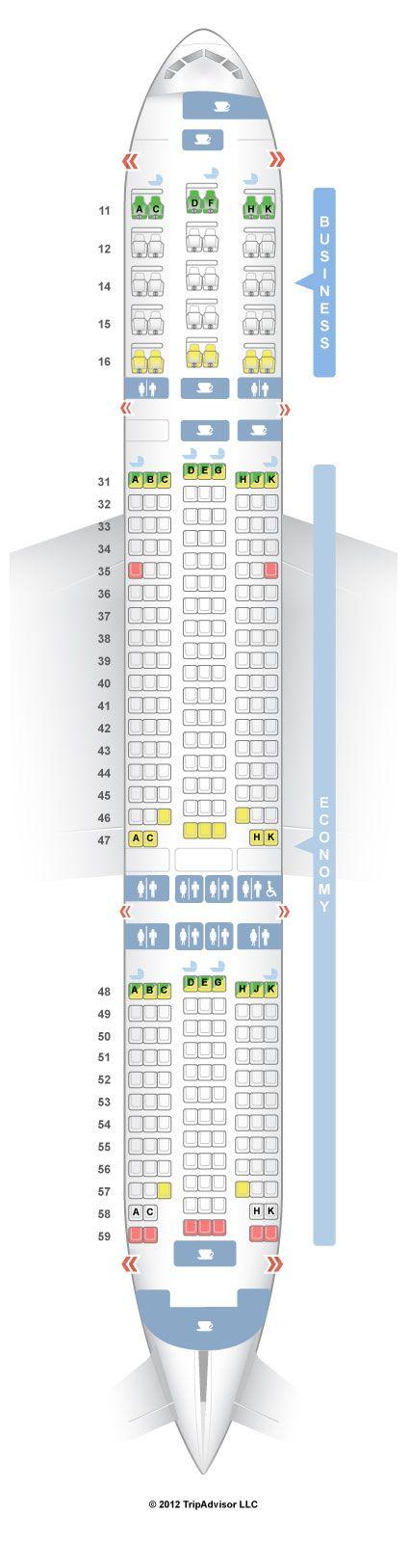 Map Singapore Airlines Boeing 777-200ER V2