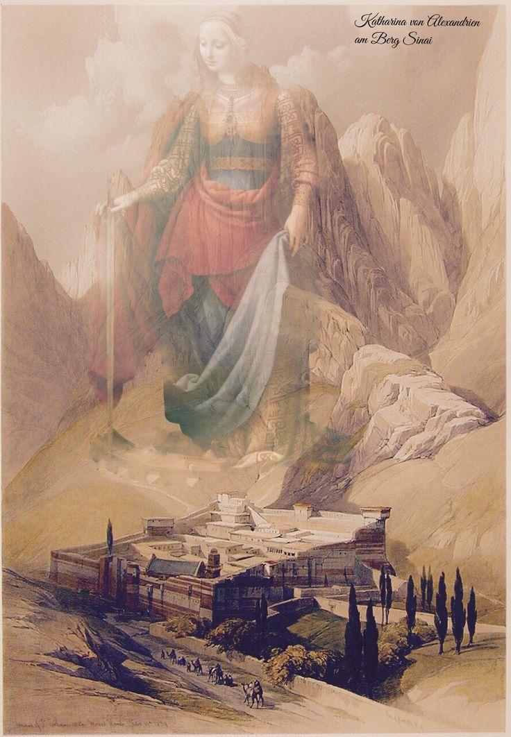 Katharina von Alexandrien am Berg Sinai