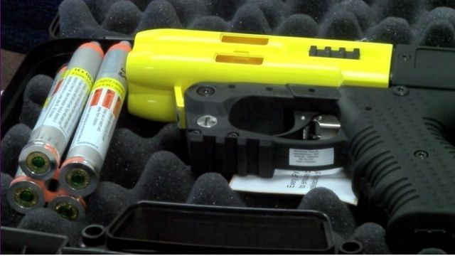 fee1bb521ef New pepper spray gun for police use being tested. | micro shot ...