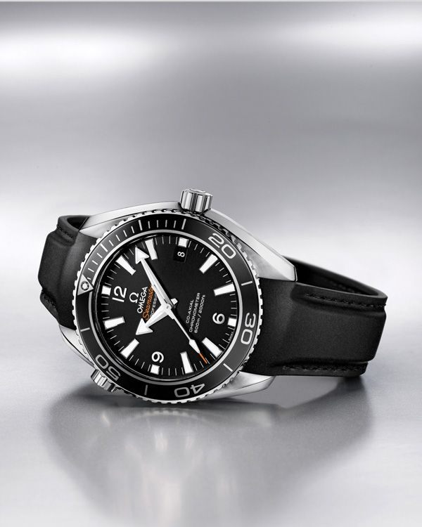 OMEGA Watches: Seamaster Planet Ocean - Steel on rubber strap
