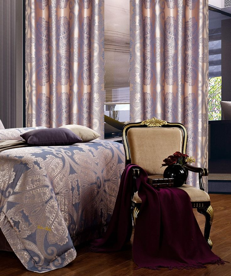 Iris Curtains. Matching bed set available.