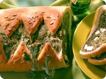 Schafkäse-Spinat-Brot
