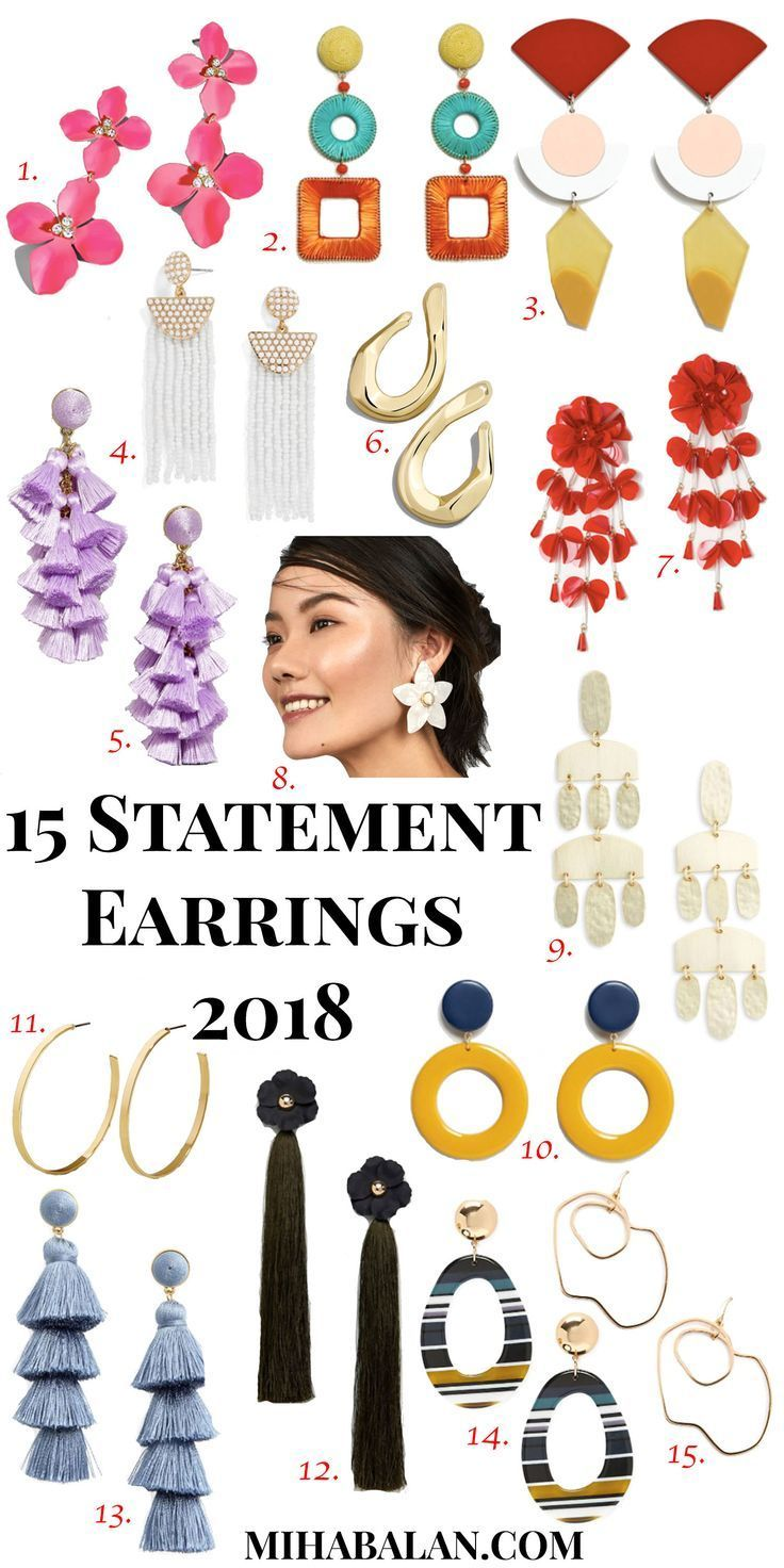 15 Statement Earrings Spring Summer 2018 Bold Golden Accessories Women Jewellery Statementearrings