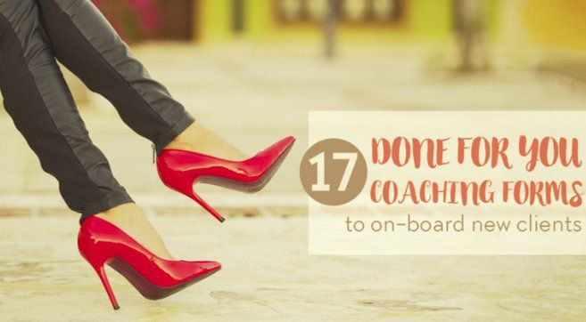 #Coaches Get 17 Done-for-You Coaching Forms to work with new clients. https://in234.isrefer.com/go/newclient/stillwriting/ … … #Coaching