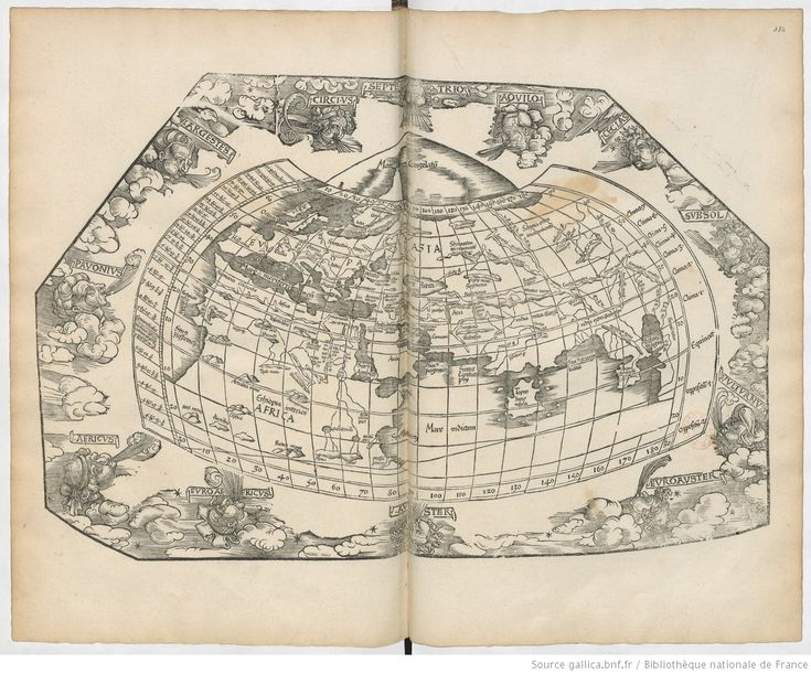 [Carte du monde selon Ptolémée]. ;